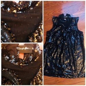 SimplyBe Sequin plus size dress